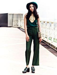 Me encanta el color del pantalón!