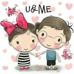 Cute Cartoon boy and girl are holding hands on a heart background - Herz Cartoon Cartoon, Cute Cartoon Boy, Couple Cartoon, Cartoon Drawings, Boy And Girl Cartoon, Holding Hands Drawing, Girls Holding Hands, Cute Couple Drawings, Cute Drawings
