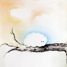 A cloud on a tree.  Pastels, colored pencils and felt pens. ©Mélodie Dauger. All rights reserved