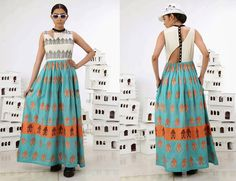 Quirky all-handwoven dress