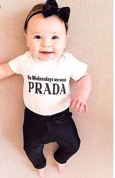On Wednesdays we wear PRADA lol:P #whenihaveaminime #kids #future #love