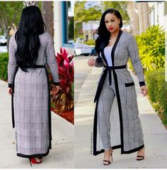 """There's just something amazing about a woman in houndstooth! ❤️ """"Evelyn"""" Set available… African Wear, African Women, African Dress, African Fashion, Casual Chic, Casual Wear, Work Fashion, Fashion Design, Mode Hijab"""