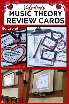 Working on music theory with your upper elementary or middle school students? You're going to LOVE this resource! You will get 13 ideas for fun music games to review note names, rhythms, music symbols and musical terms. These Valentines Day music activities are great for beginning band, choir, orchestra and Elementary Music. Students will work on notes, rests & music symbols. A fun music activity for February! Great for centers, too. PowerPoint slide show included!#Valentinesmusicactivities