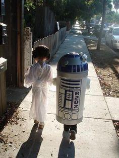 R2D2 & Princess Leia Couples Costumes