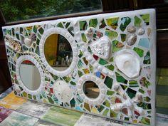"""Spiegel """"Floral"""" von Mosaikhandwerk auf DaWanda.com"""