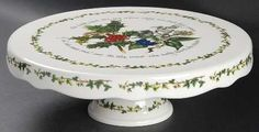 Portmeirion The Holly and The Ivy Footed Cake Plate
