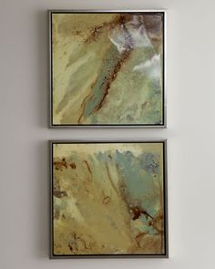These are great! Looks like marble, but are painted with color!