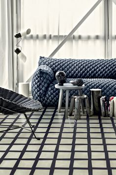 Indigo Blue trend can look Stunning in your Living Room: See How! Blue Furniture, Unique Furniture, Paola Navone, Interior And Exterior, Interior Design, Archi Design, Upholstered Arm Chair, Chaise Sofa, Modern Spaces