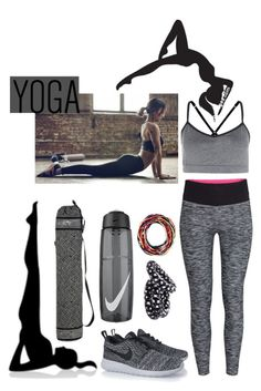 Yoga Made Me Do It by prettyorchid22 on Polyvore featuring polyvore, fashion, style, H&M, NIKE and NOVICA