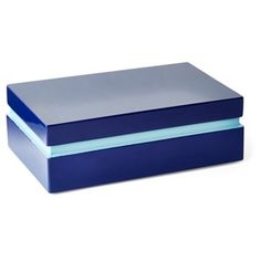 "Check out this item at One Kings Lane! 8"" Midnight Wood Box, Blue"