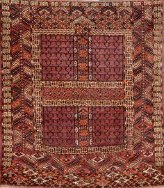 Tekke 'Ensi',, Tekke 'Ensi', Turkmenistan, 19th century, wool/wool, approx. 142 x 126 cm