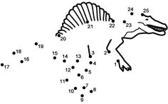 Spinosaurus - Connect the Dots, count by (Dinosaurs) Dinosaur Worksheets, Worksheets For Kids, Dinosaur Coloring Pages, Coloring Pages For Kids, Dot To Dot Puzzles, Dot To Dot Printables, Scramble Words, Dinosaur Pictures, Dinosaur Crafts