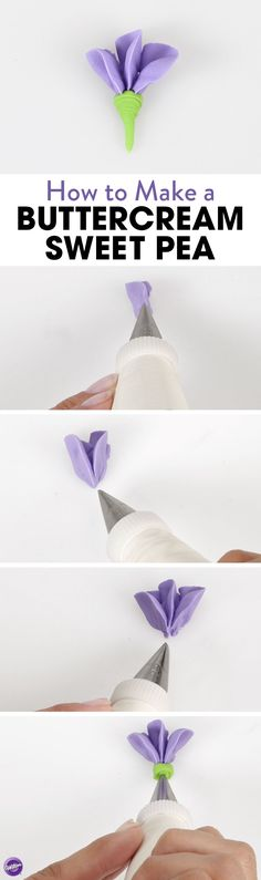 Sweet peas are one of the easiest flowers to pipe. Learn how to make them using buttercream.