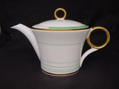 Shelley ART DECO Regent Shape TEA POT Gilded c.1933 in Pottery, Porcelain & Glass, Porcelain/ China, Shelley | eBay