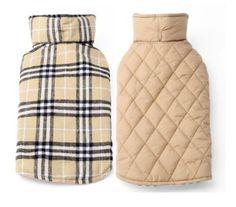 Reversible Plaid Winter Dog Jacket