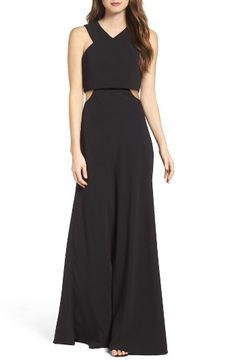 Free shipping and returns on Jill Jill Stuart Popover Crepe Gown at Nordstrom.com. Eveningwear goes modern with this breathtaking crepe gown. Sleek cutaway shoulders, a popover bodice and side cutouts create the appearance of two pieces in one chic look.