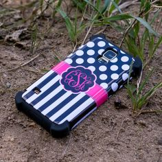 Shock Proof Monogram Cases. Personalization & protection all in one.