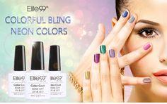Elite99 Soak Off Bling Neon Cor Gel UV LEVOU Base De Top Coat Brilho Maravilhoso Da Arte Do Prego Unha Polonês 10 ML em Unhas de Gel de Saúde & Beleza no AliExpress.com   Alibaba Group