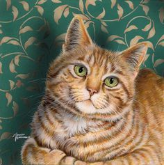 All Smiles MARILYN BARKHOUSE #cat #painting | pinned by www.amgdesign.co.nz
