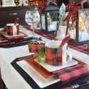 56 Christmas Vacation table setting featuring houses and characters from the movie is sure to put a smile on your dinner guests and family.