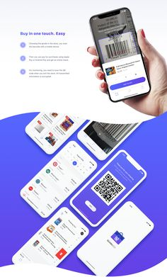 Scan&Go App on Behance Qr App, Qr Code App, Mobile App Ui, Ios App Design, Mobile App Design, Ux Design Portfolio, Scan App, Web Banner Design, Interface Design