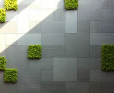 mpronte Feature Durastone Porcelain Tiles - Combination of colours and finishes courtesy: Entry to IMPRONTE Showroom - Brescia, Italy Wall Cladding Tiles, Exterior Wall Cladding, Exterior Tiles, Brick Architecture, Urban Architecture, Garden Architecture, Paving Design, Terrace Design, Modern Landscaping