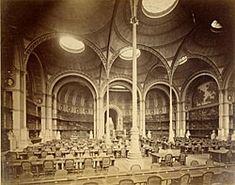 Photographie de la salle Labrouste au 19e siècle