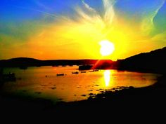 New Grimsby at sunset, taken by Tresco Abbey Gardener Jon Taylor