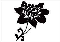 Flower Silhouette Vector Download Silhouette Graphics