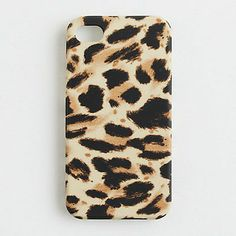 J.Crew IPhone 5 5s case Camel Brown Cheetah Animal Leopard Print Gorgeous! want this!