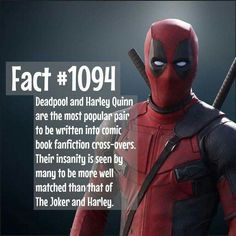 Do you ship it? by superhero_facts_daily<<Joker is an abusive sadistic ass, and both Deadpool and Harley are more well-meaning and almost child-like by comparison. Deadpool Facts, Marvel Facts, Marvel Vs, Marvel Dc Comics, Ryan Deadpool, Deadpool Stuff, Deadpool Funny, Comic Book Characters, Comic Character