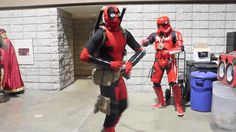 D Piddy's Deadpool Funny cosplay gif. Red Stormtropper mind control to kill Deadpool