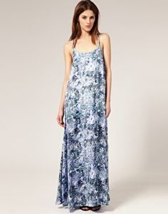 Image 4 of Staple Printed Layered Racer Back Maxi Dress