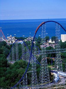 the best roller coaster in the whole world = Millennium Force, Cedar Point Top 10 Roller Coasters, Crazy Roller Coaster, Best Amusement Parks, Amusement Park Rides, Cedar Point Ohio, Places To Travel, Places To See, Parcs, Water Slides