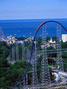 Millennium Force rollercoaster at Cedar Point in Sandusky, OH