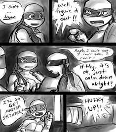 i was stuck in between the first and second panel ever since i finished the last page 8T bah... well, here yah go. pg 1: pg 4: pg 6: story (c) & TMNT12 (c) Nickelodeon