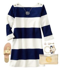 """""""#remispiritweek Day 4- lunch in Nantucket"""" by emmig02 ❤ liked on Polyvore featuring Gap, Kendra Scott, PearLustre by Imperial, Kate Spade, Jack Rogers, Tory Burch, prepspiritweek and remispiritweek"""
