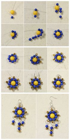 Buy Jewelry Beads for Bracelet and Necklace Online Beaded Bracelets Tutorial, Bead Loom Bracelets, Seed Bead Jewelry, Bead Jewellery, Diy Earrings And Necklaces, Lace Earrings, Diy Crafts Jewelry, Handmade Jewelry, Diy Bead Embroidery