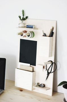DIY Desk Organizer /themerrythought/ for /poppytalk/