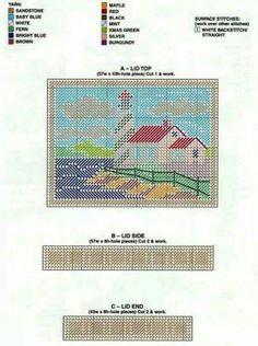 Lighthouse box long stitch 1/2