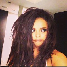 Jesy Nelson Shows You What Happens When You Whip Your Hair Too Much...