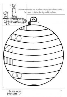 Risultati immagini per graphisme boule de noel Preschool Christmas Activities, Christmas Worksheets, Kids Learning Activities, Montessori Activities, Preschool Activities, Christmas Crafts For Kids, Xmas Crafts, Christmas Colors, Kids Christmas