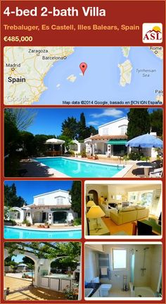 4-bed 2-bath Villa in Trebaluger, Es Castell, Illes Balears, Spain ►€485,000 #PropertyForSaleInSpain