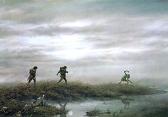 Through the Marshes by Ted Nasmith