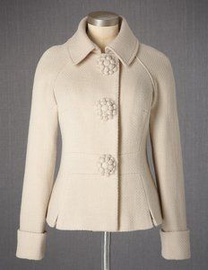 Floral Button Jacket.