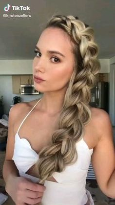 Lazy Girl Hairstyles, Formal Hairstyles For Long Hair, Everyday Hairstyles, Pretty Hairstyles, Braided Hairstyles, Long Hair Styles, Hair Upstyles, Long Hair Video, Hair Videos