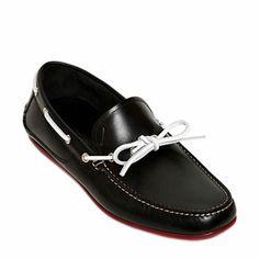 Shoe Porn: Salvatore Ferragamo Mango Leather Boat Shoes