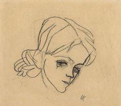 Head of a Girl Oskar Kokoschka 1912