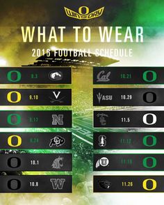 2016 football schedule: color to wear
