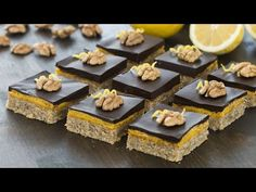 Walnut Lemon Bars :: Home Cooking Adventure